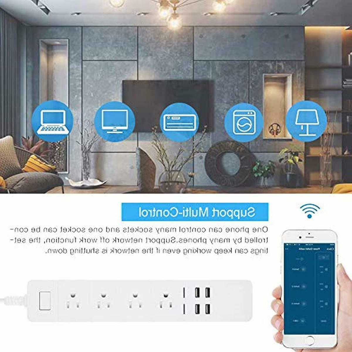 WiFi Smart Surge with Smart 4 USB Ports NEW