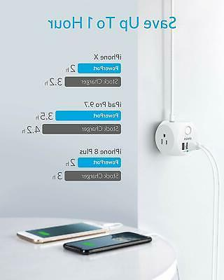 Surge Protector Cube Ports extension Anker Power USB