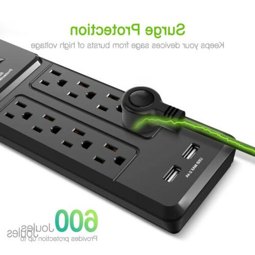 8 Outlet Charging Station Power Surge w/ Cord Office