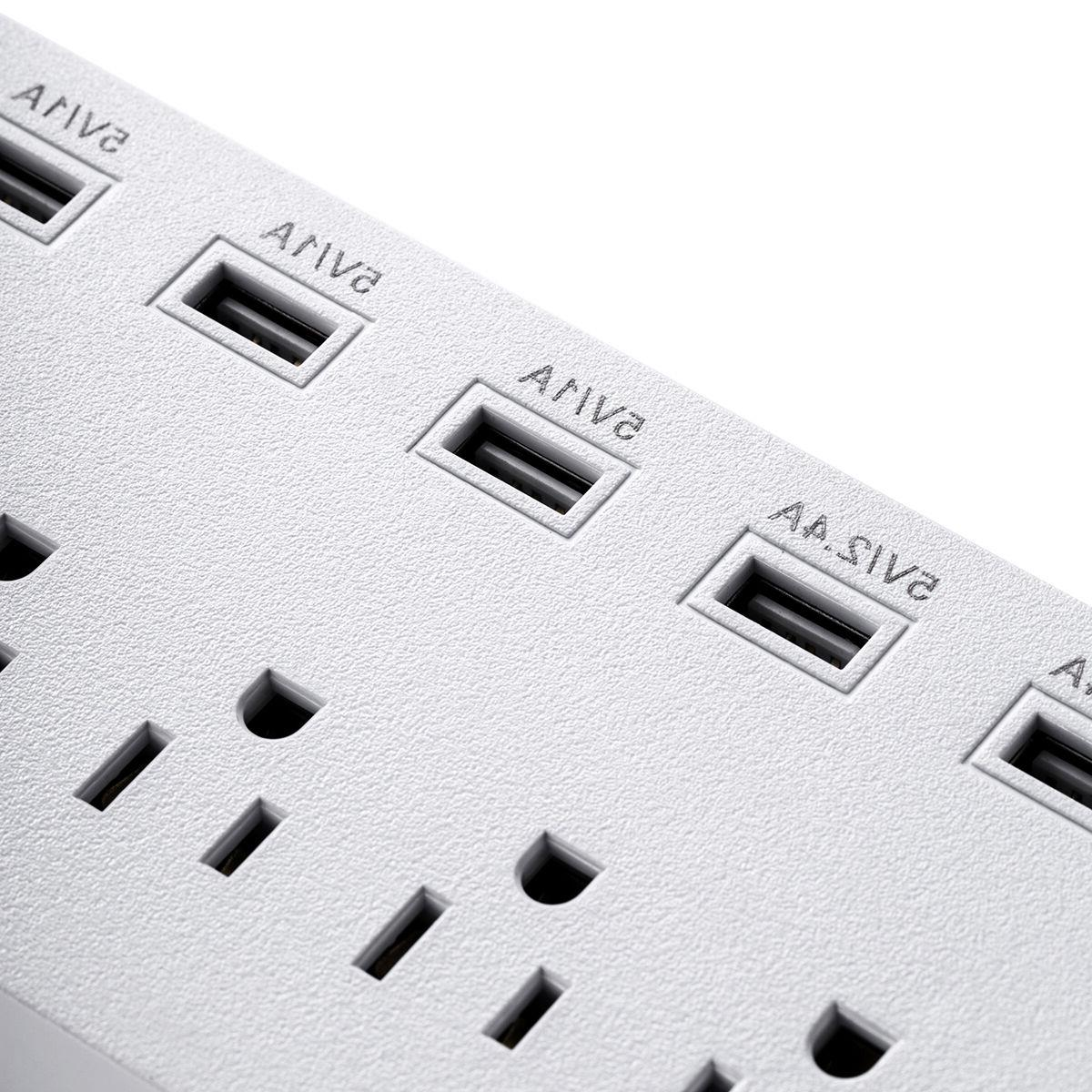 Poweradd 5FT Charging Ports 3 Outlets Surge Sockets