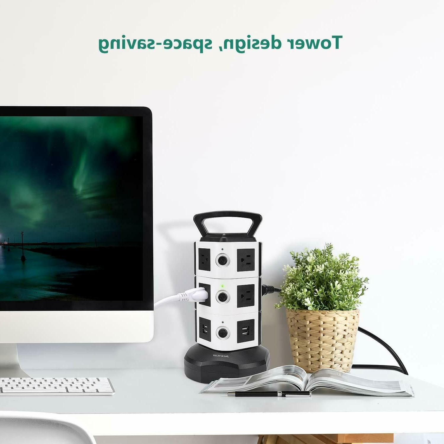 Power Strip JACKYLED Surge Protector Charging Station