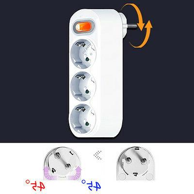 SWITCH - 90 Degree Rotating Electrical Power Outlet Strip Pl