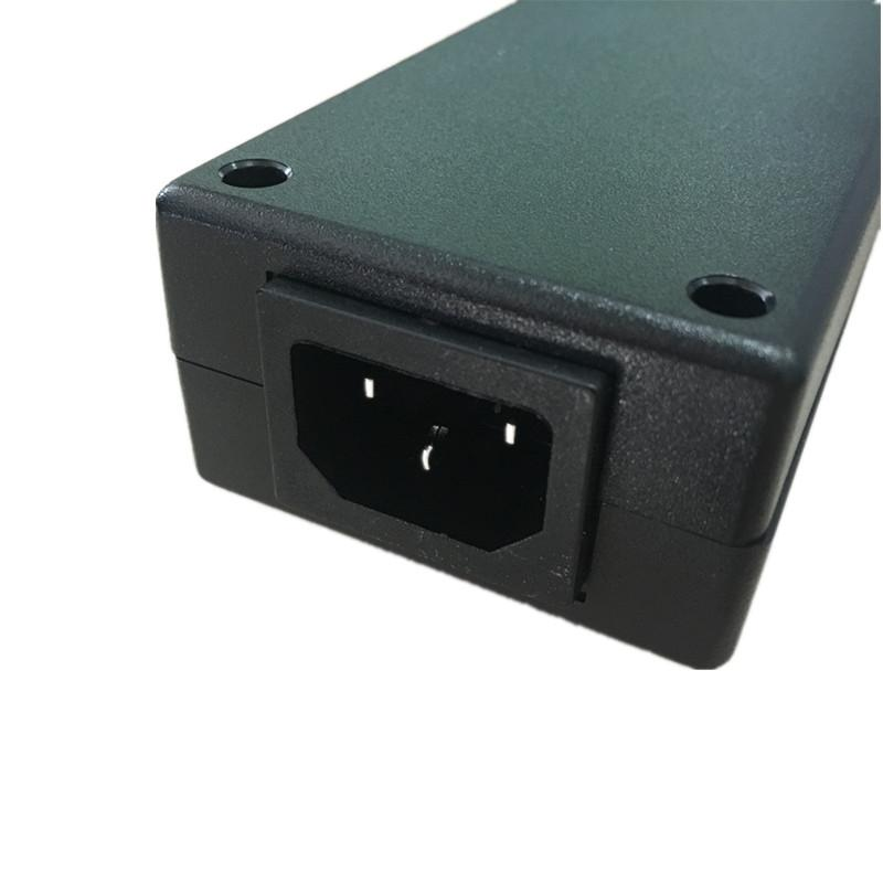 The Plug Black 4 Outlet PDU with Light <font><b>Power</b></font> Surge <font><b>Protector</b></font> Outlet Spread