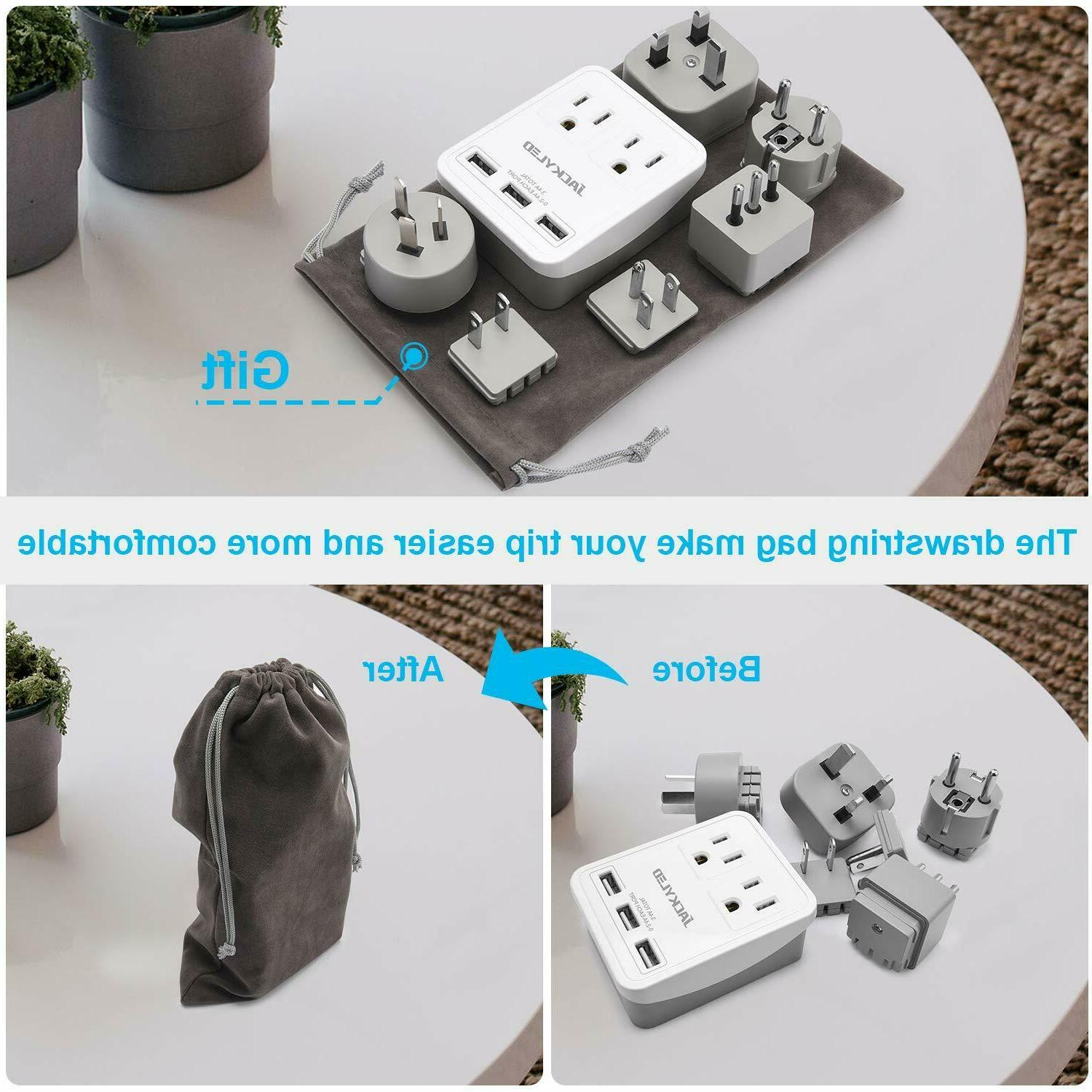 Travel Power Adapter Cruise JACKYLED Strip 3.4A Ports