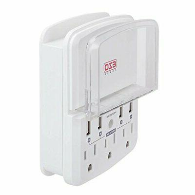 ul certified outlet strip charger wall mount