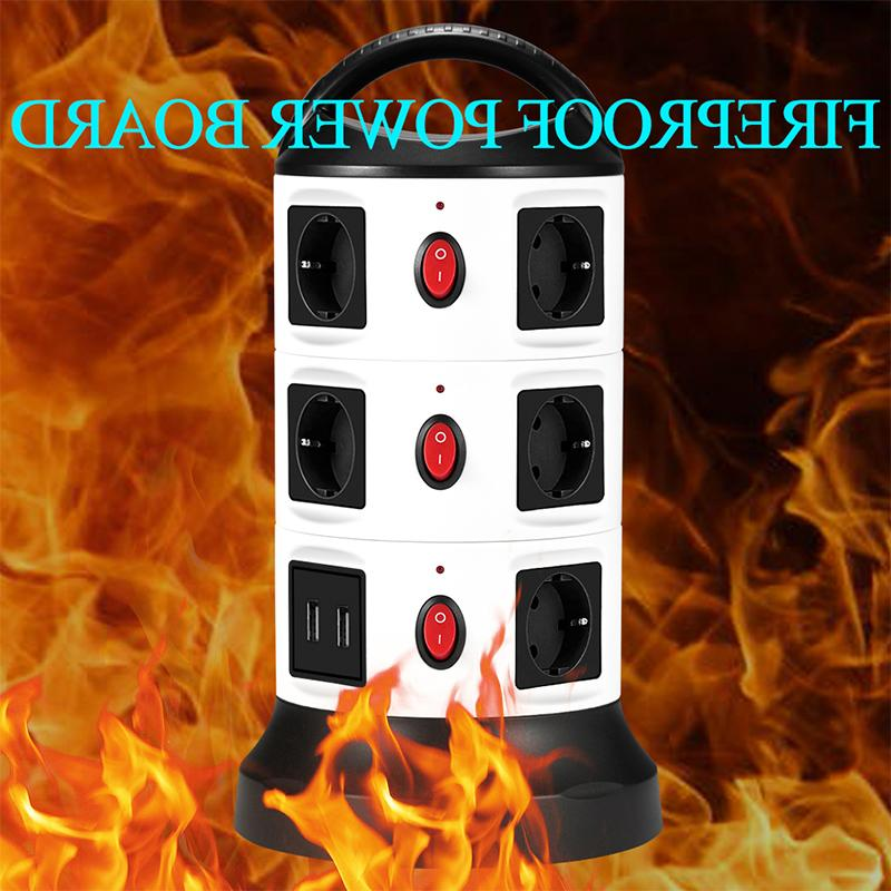 USB <font><b>Power</b></font> 7/11 Outlet Socket with USB Surge <font><b>Protector</b></font> 3m Extension Cord Single