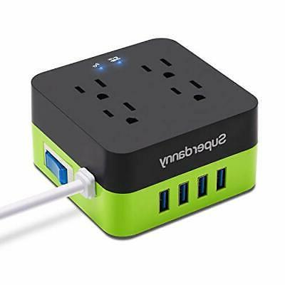usb power strip surge protector fast charging