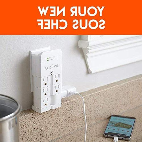 ECHOGEAR with Pivoting Outlets Low Over Protect Gear Increase Outlet