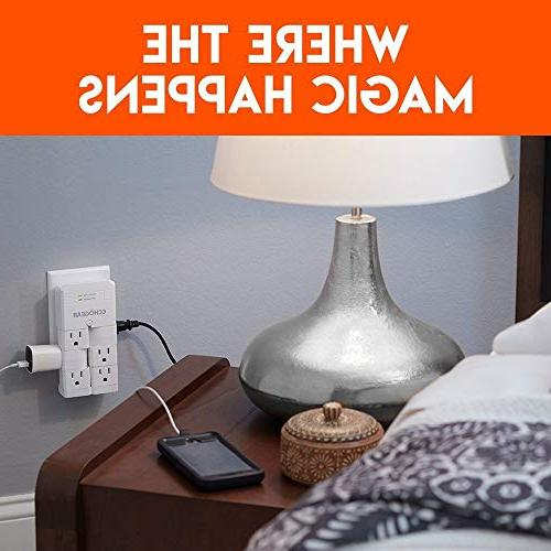 ECHOGEAR with Pivoting Outlets Low Over Outlets Protect Increase Capacity