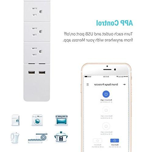 TOOGOO Wi-Fi Power Strip, Google Assistant & Supported, APP Remote 3 and 2 US