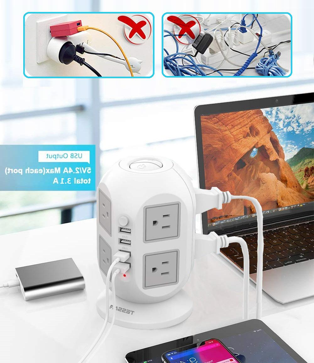 8 Space Power with USB and