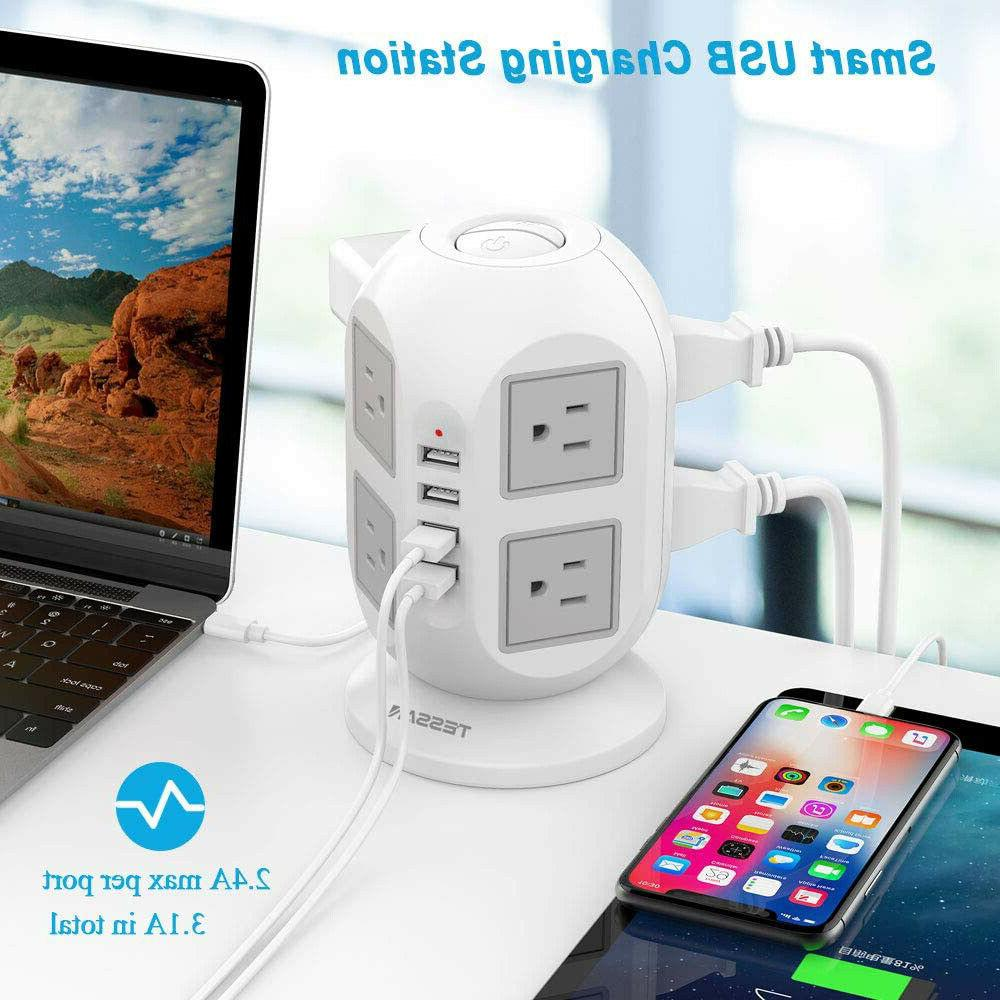 widely spaced outlet power strip surge protector