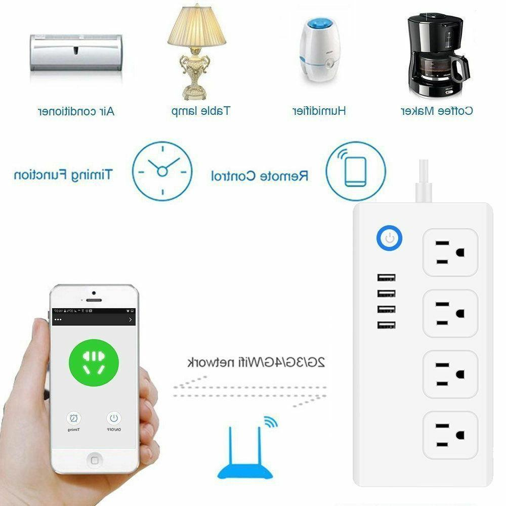 WiFi Surge AC Outlets and 4 USB