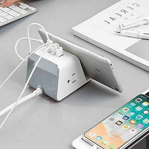 JACKYLED Charger Strip Surge USB Charging