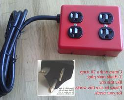 Metal Power strip box heavy duty 12/3 extension cord plug ad
