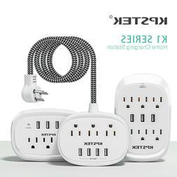 KPSTEK Multi Outlets Power Strip with USB Ports Surge Protec