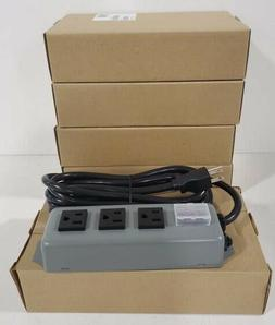 new 3sp power strip 3 outlet industrial