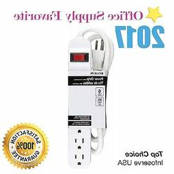 New Belkin 6-Outlet Power Strip 3 ft heavy-duty  cord 6 outl