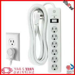New 6 Outlet Surge Protector 10 Ft Extension Cord, Power Str
