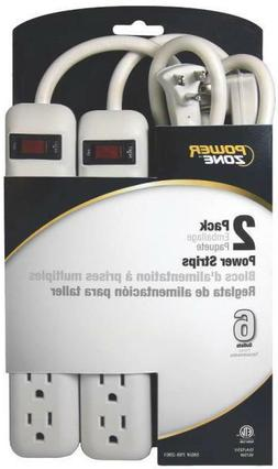 new pack of 2 white 6 outlet