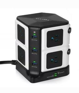 New! Bestek Power Strip 8-Outlet Surge Protector 1500 Joules