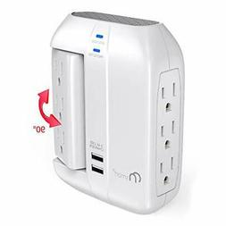 ON Smart Wall Tap Swivel Surge Protector- Power Strip w/ 6 P