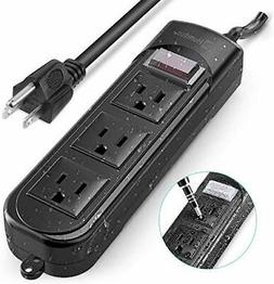 Outdoor Power Strip Surge Protector with Adapter Humtus Anti
