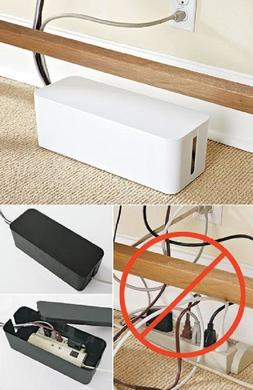 Outlet Power Strip Cord Cable Wire Management Box Tidy Organ