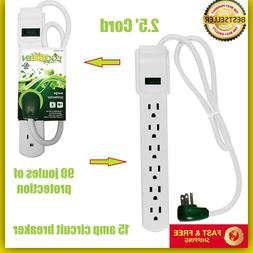 Outlet Surge Protector Power Strip Heavy Duty With Flat Plug