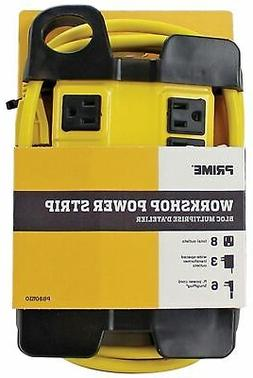 Prime Wire & Cable PB801130 8-Outlet 5+3 Metal Shop Box with