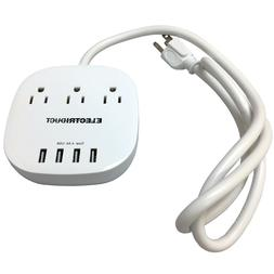portable power strip with 4 usb charging