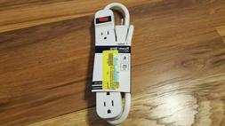 BELKIN POWER STRIP 6 OUTLET 3FT CORD RUSH SHIPPING FREE SHIP
