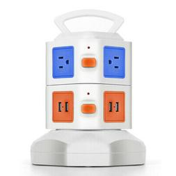 Power Strip with USB Surge Protector 6 Outlet 4 USB Port Cha