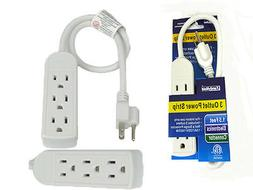 POWER STRIP Grounded 3 Outlet Indoor Wall Plug AC1625W Elect