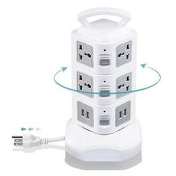 Surge Protector Power Strip, Tower Multi Plug Outlet with Lo