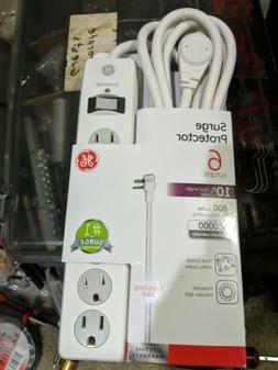 GE Power Strip Surge Protector 6 Outlets 10 Ft 800 Joules Sa