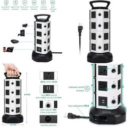 JACKYLED Power Strip Tower 14 Outlet Plugs with 4 USB Slot 6