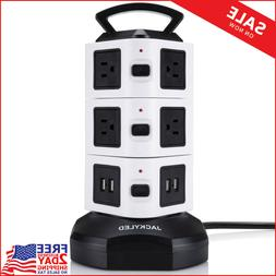 Power Strip Tower JACKYLED Surge Protector Electric 10 Outle