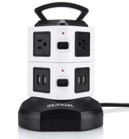 Power Strip Tower-JACKYLED Surge Protector Electric Charging