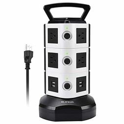 Power Strip Tower JACKYLED Surge Protector Electric Charging