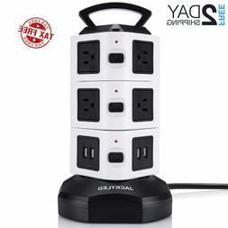 Power Strip Tower Surge Protector Electric Jackyled Charging