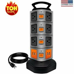 Power Strip Tower,   Surge Protector Electric Charging Stati
