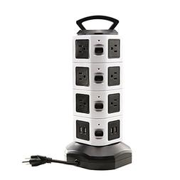 Power Strip Tower, LOVIN PRODUCT Surge Protector Electric Ch