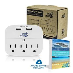 Cruise Power Strip Wall Tap - Non Surge Protector & Cruise S