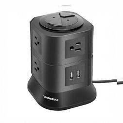 Power Strip with 7 Multiple Plug Outlets 2 USB Ports Tower S