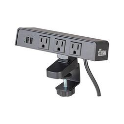 VARIDESK PowerHub Surge Protector with 3 AC Outlets and 2 US