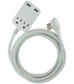 Ge Pro Surge Protector Power Strip With Usb Fast Charging, E