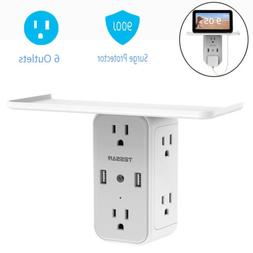 Professional Surge Protection Power Strip 6 Outlets & 2 USB