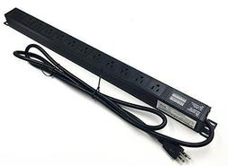 Rack Mount Power Distribution Unit 12 Outlets 15A PDU W/Swit