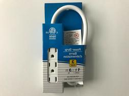 Small Power Strip 3 Outlet 1 foot Cord